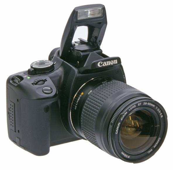 Canon 400D face +flash