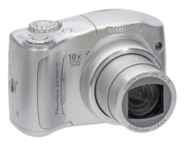 Canon SX100is allumé